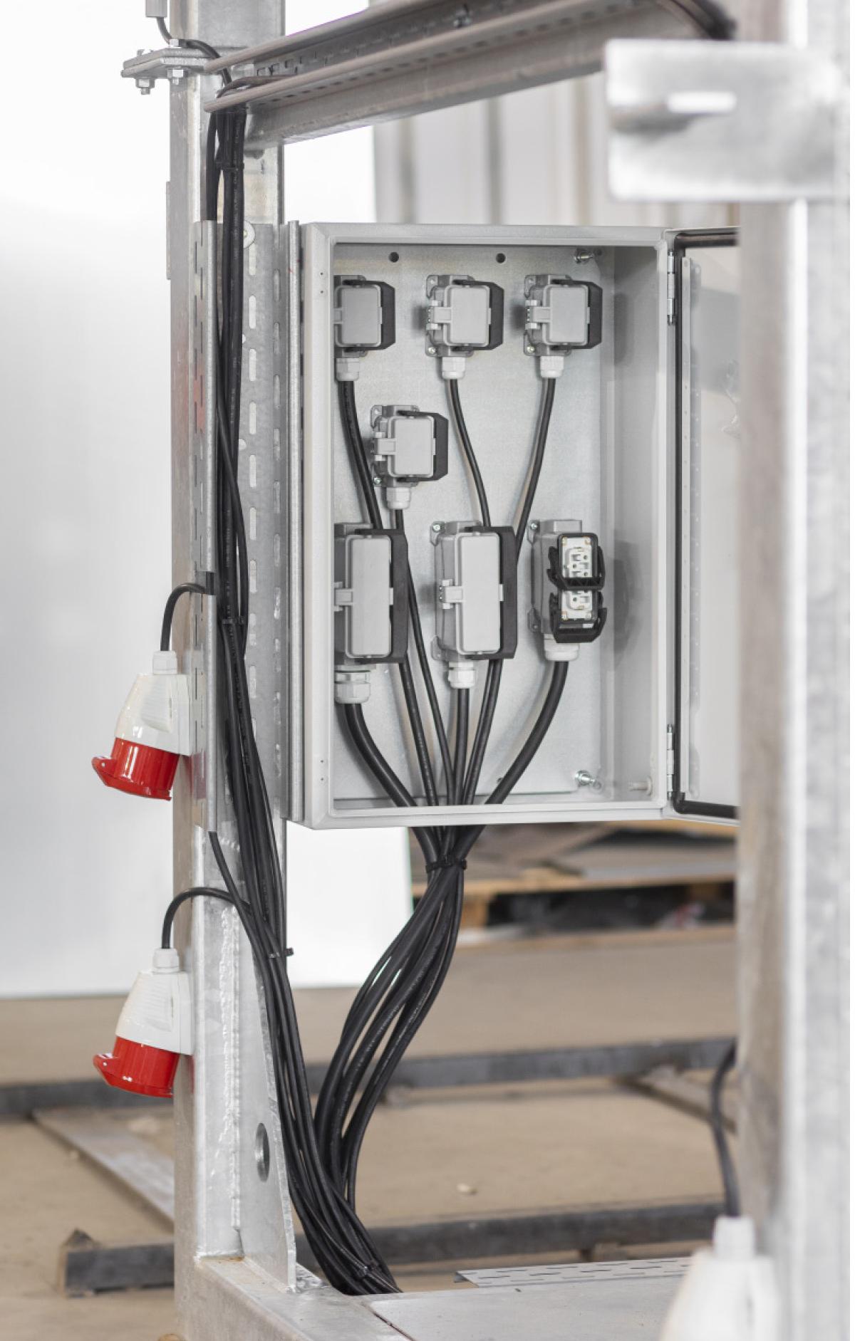 Modularer Aufbau ermöglicht eine flexible Konfiguration und einen schnellen Auf- und Umbau